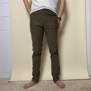 American Eagle Extreme Flex Green Corduroy Pants